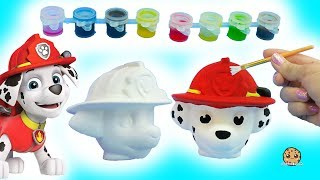Painting A Dog Head - DIY Paw Patrol Marshall Pup + Cute Food Suncatcher - Craft Video