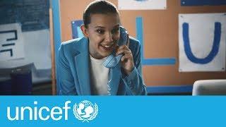 Millie Bobby Brown: Go Blue on World Children's Day | UNICEF