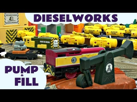 Thomas And Friends Dieselworks Trackmaster Pump and Fill Set kids Toy Train Set Thomas The Tank