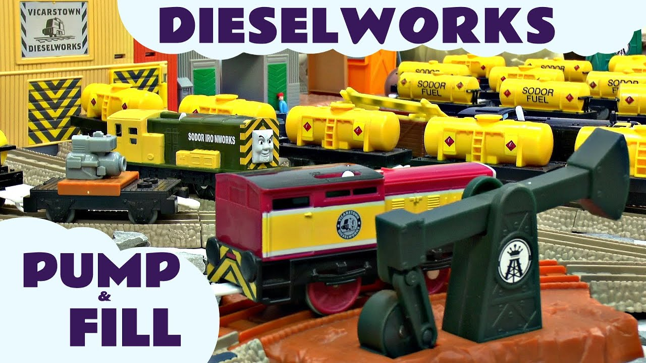 Dieselworks Thomas The Train Trackmaster Pump and Fill Set kids Toy ...