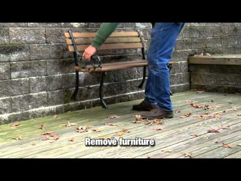 how to prepare fence for staining
