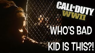 """WHO'S BAD KID IS THIS? ( FUNNY """"CALL OF DUTY, WW2"""" CAMPAIGN MODE GAMEPLAY #5"""