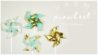 polymer clay Pinwheel Charms TUTORIAL