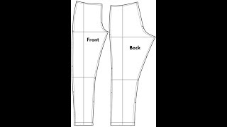 DIY HOW TO MAKE EASY FEMALE PANT / TROUSER PATTERN pt 1  |  Jessica Nneka