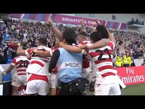 Post-match reaction from Japan's win over South Africa