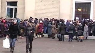 В Макеевке открыли третий пункт выдачи гуманитарной помощи Рината Ахметова - (видео)