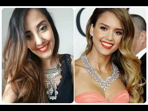 Get the celebrity makeup look Jessica Alba--تماكياو فحال جيسيكا ألبا