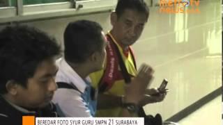 Heboh Foto Guru Beradegan Mesum di Surabaya