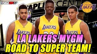 NBA 2K17 Los Angeles Lakers MY GM - Episode #1 - ROAD TO SUPER TEAM!!!