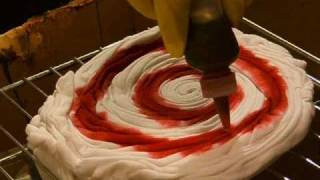 How to TIE DYE a simple spiral (swirl) design.