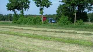 NH T 6090, NH T 7550 u. Case, Gras 2. Schnitt