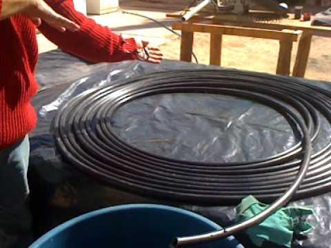 Calentador solar de bobina de youtube for Calentador solar piscina casero