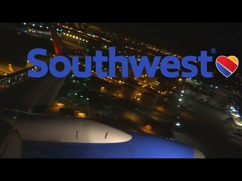 HD Southwest Airlines Boeing 737-7H4 N240WN Takeoff from Los Angeles International Airport