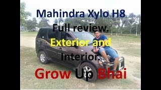 MAHINDRA XYLO | TOP MODEL H8 SERIES with features | FULL REVIEW | INTERIOR AND EXTERIOR