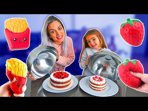 SQUISHY vs REAL FOOD!!  ItarteVlogs