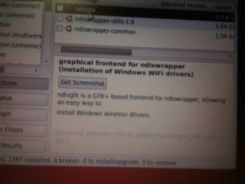 ndiswrapper on Ubuntu/Xubuntu Made Stupid Simple For Windows Wireless Drivers