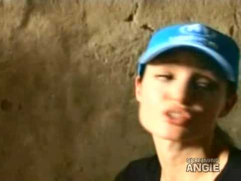 Angelina Jolie third visit in Iraq refugees - Rough cut July 23