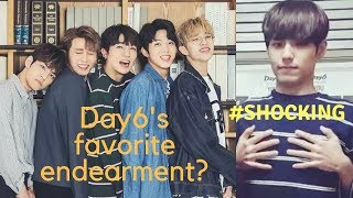 breaking news: day6's favorite endearment finally revealed #fakenews