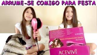 ARRUME-SE COMIGO PARA FESTA DE ANIVERSÁRIO - USANDO HAIR CURLING DA WHOLESALEBUYING