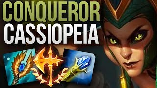 CASSIOPEIA WITH NEW 9.23 CONQUEROR IS UNSTOPPABLE! | CHALLENGER CASSIOPEIA MID GAMEPLAY | 9.23 S9