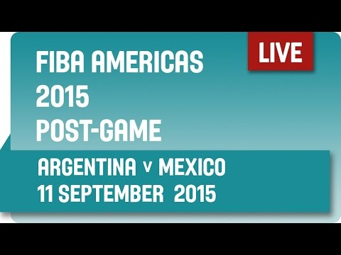 Post-Game: Argentina v Mexico - Semi-Final -  2015 FIBA Americas Championship