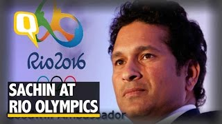 The Quint:Watch: Sachin Visits Games Village, Wants Cricket at the Olympics