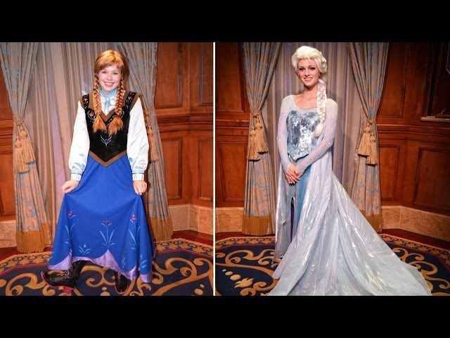 UPDATED Anna & Elsa FROZEN Meet & Greet - Meeting Separately (in Same Room), Princess Fairytale Hall