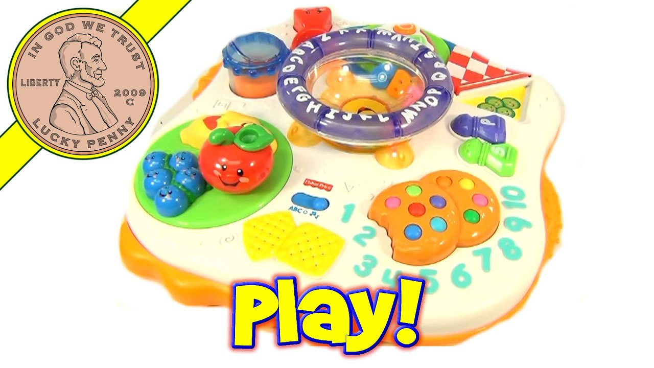 Fisher-Price Laugh and Learn Learning Table Play Center ABC's Counting Toy - YouTube