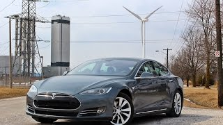 Tesla Model S P85D Double Black Diamond Dual Motor Winter Tour Test Drive