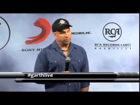 Garth Brooks Press Conference Nashville July 10th 2014. video