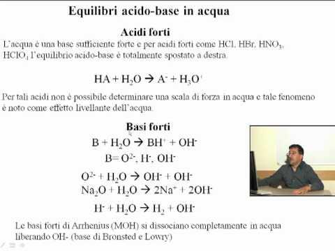 Chimica Generale Inorganica – Equilibri acido-base in soluzione acquosa