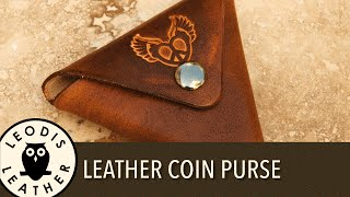 Making a Leather Stitch Free Coin Purse