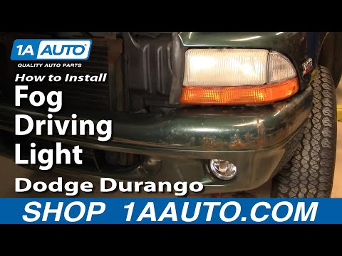 How To Install Replace Fog Driving Light Dodge Durango Dakota 97-00 1AAuto.com