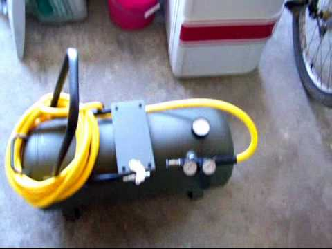 Diy Portable Air Tank Air Pig Made From Garbage Youtube