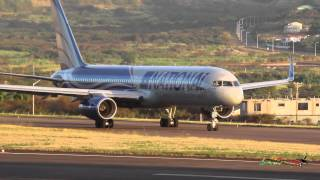 National Airlines 757-200 departing St Kitts (HD 1080p)