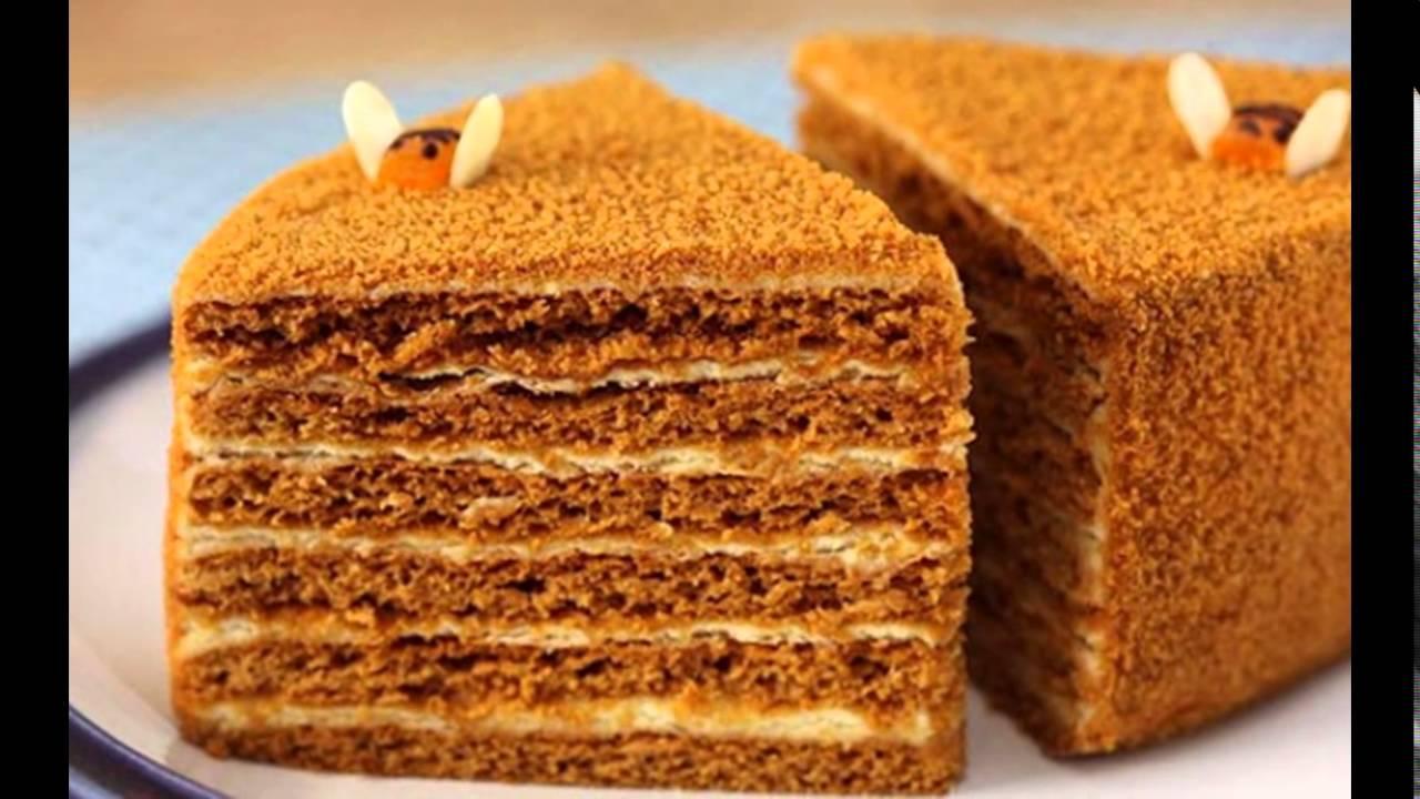 Медовый торт в домашних условиях со сгущенкой рецепт