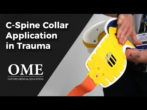 C-Spine Injury - Collar Application (Initial Assessment of a Trauma Patient).wmv