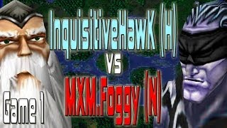 Warcraft 3 - InquisitiveHawk (H) vs MXM.Foggy (N) [Game 1]