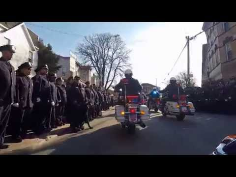NYPD Det Rafael Ramos' funeral procession