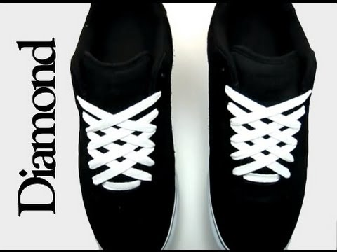 How to Diamond Lace shoes with Lace Anchors