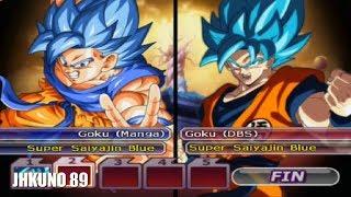 GOKU SSJ BLUE MANGA TEAM vs GOKU SSJ BLUE ANIME TEAM | DRAGON BALL Z BUDOKAI TENKAICHI 3
