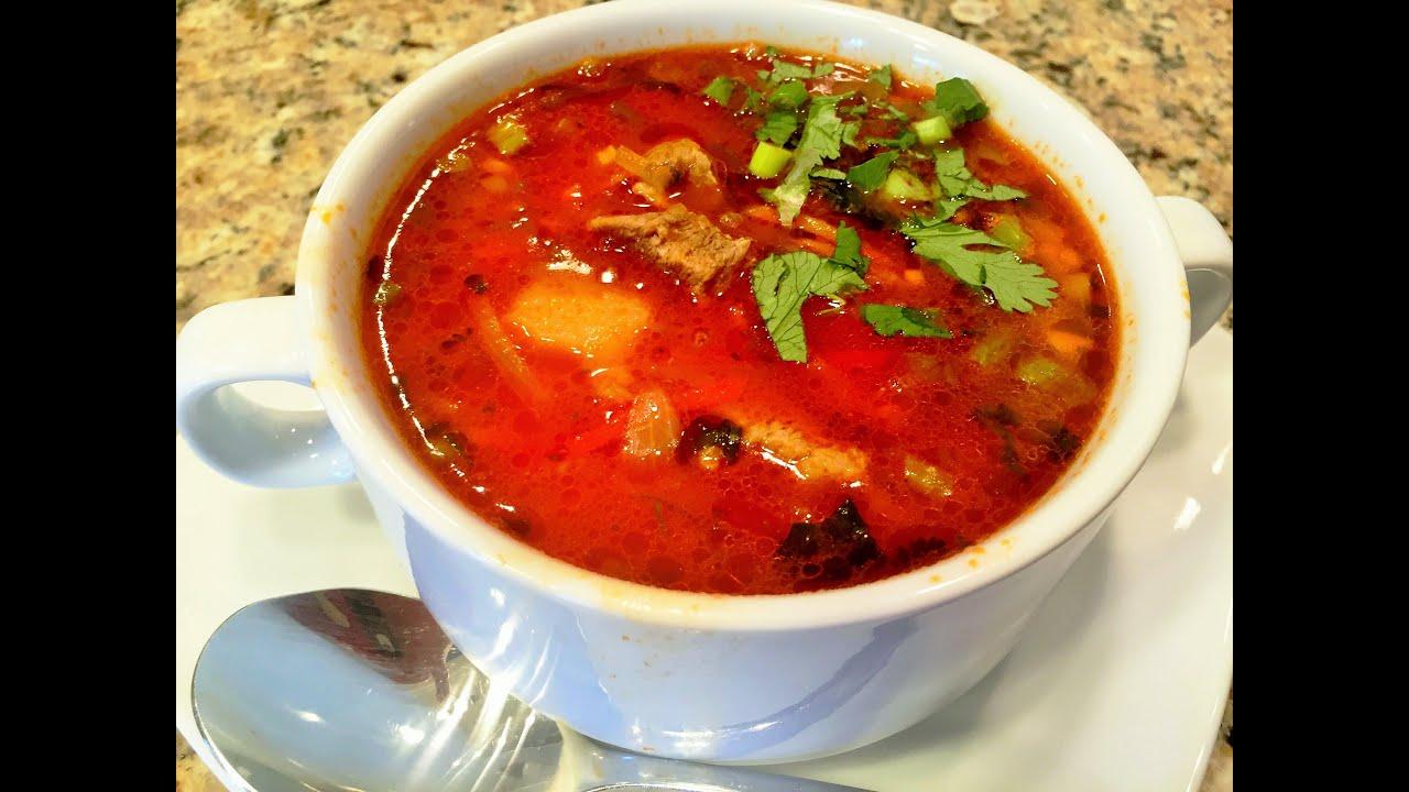 вкусный рассольник с рисом и солеными огурцами рецепт с фото пошагово
