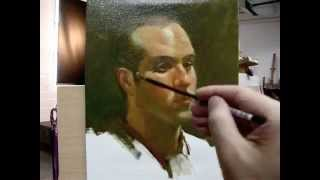 """Frank"" Alla prima painting demo from Tan"