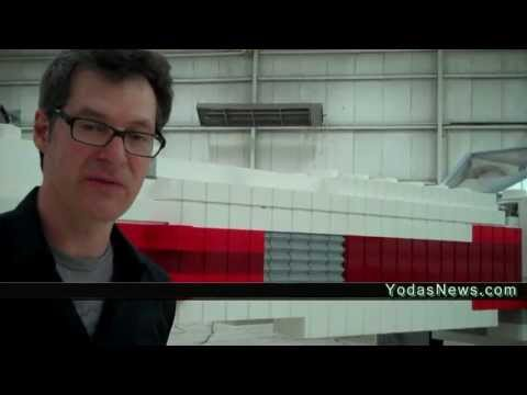 Star Wars LEGO World's Largest X-WING New York Times Square Yoda Chronicles Behind The Scenes