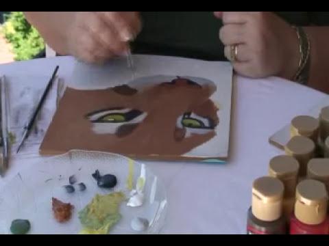 Pintura decorativa: ¿Como pintar ojos de puma?