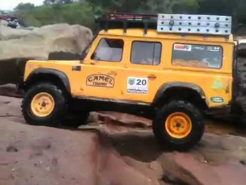 Rc Camel Trophy Defender Scale Crawler Youtube