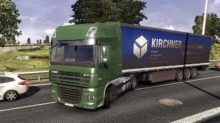 Euro Truck Simulator 2 - DAF XF Super Space Cab Transporting  Apples