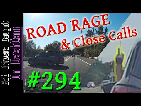 Bad Drivers Dashcam Compilation #294 - Road Rage, Close Calls and Highway Stupidity