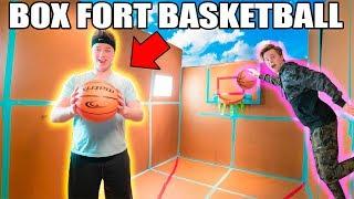 BOX FORT BASKETBALL COURT NBA 2K18 📦🏀Basketball Mini Games, Trick Shots & More!