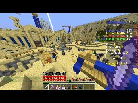 Minecraft 100 PLAYER MEGA WALLS #27 With Vikkstar, Preston & Jerome